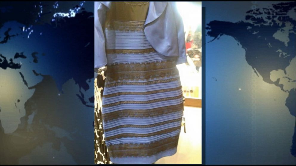 Internet dress white and gold or black and blue