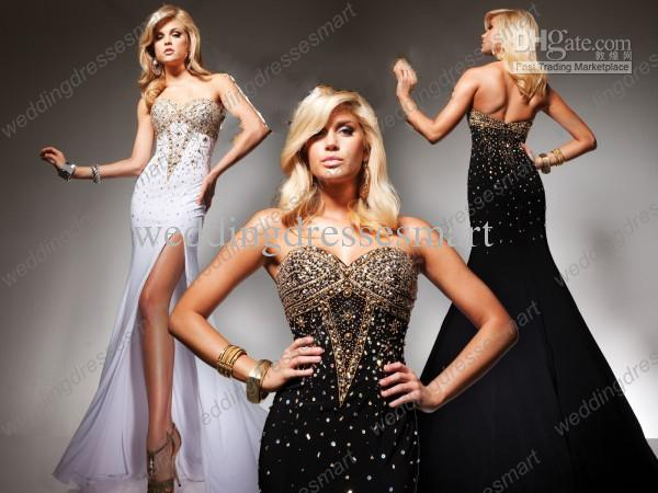 Ball gown prom dresses with sleeves black and white background