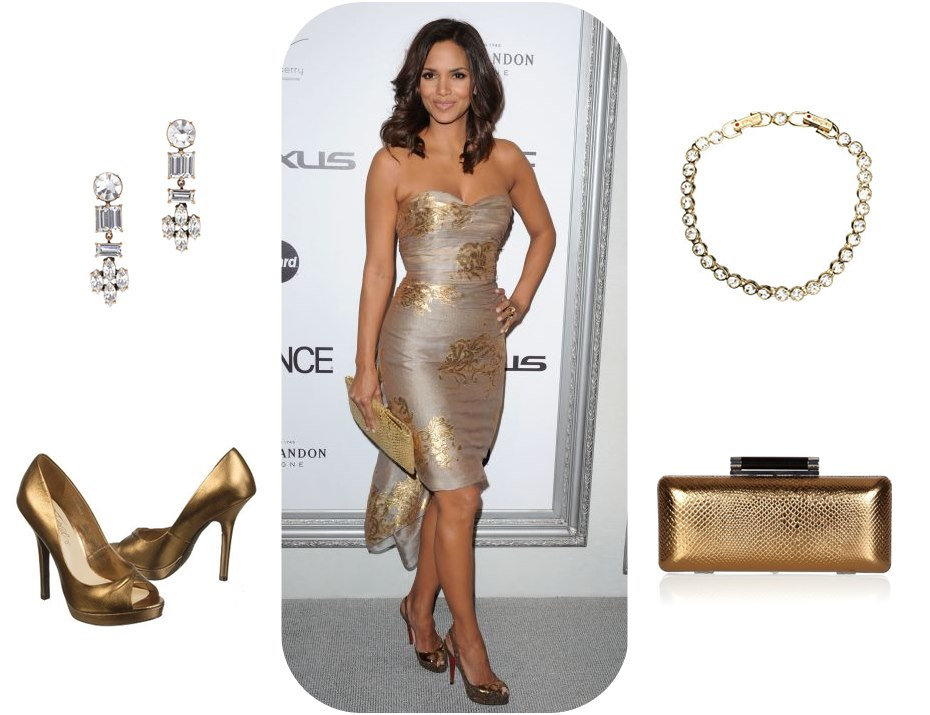 what shoes to wear with a gold prom dress style guru