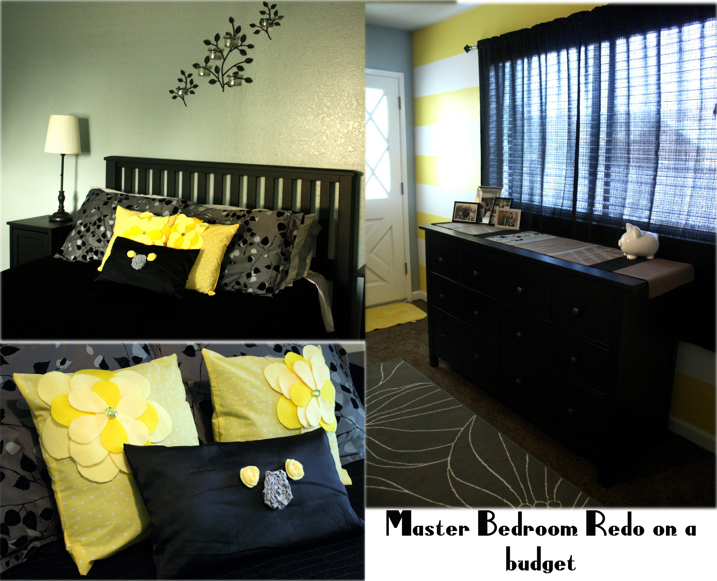 Photo Collection Black And Yellow Room Wallpaper