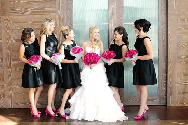 Black dress and pink shoes images