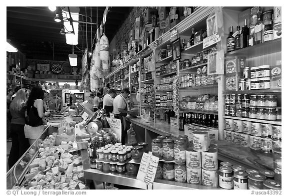 grocery italian italy francisco san customers food california interior north usa beach bw hdblackwallpaper