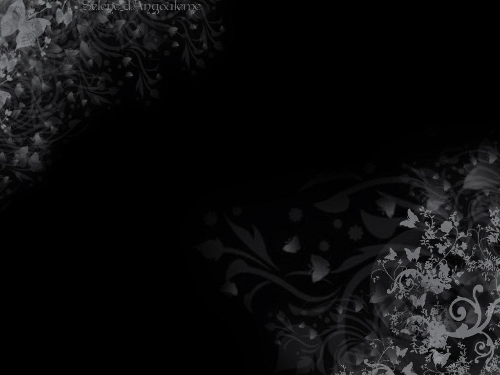 Floral wallpaper with black background 40 desktop for Black design images
