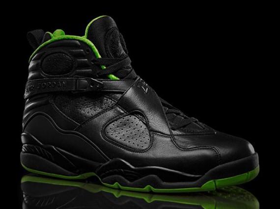 Green And Black Jordans 18 Hd Wallpaper