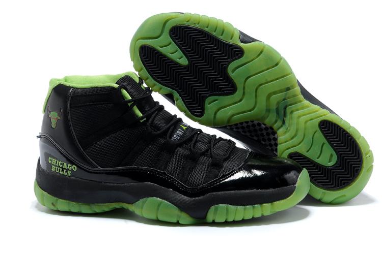 Green And Black Jordans 21 Widescreen Wallpaper