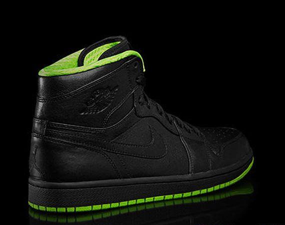 Green And Black Jordans 22 Widescreen Wallpaper
