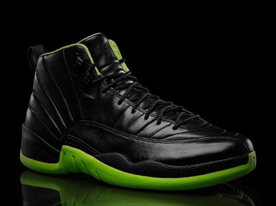 Green And Black Jordans 29 Desktop Wallpaper