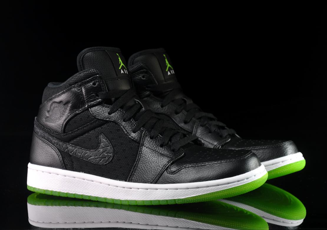 Green And Black Jordans 37 Desktop Background