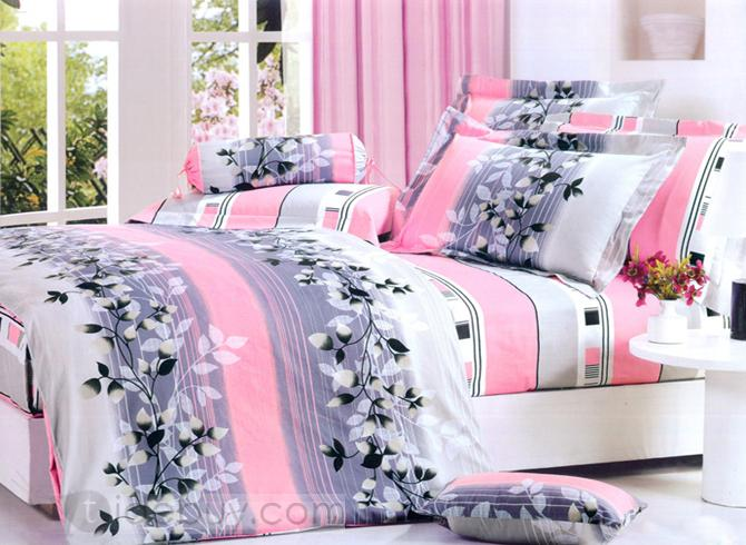 Pink And Black Bedding 12 Background
