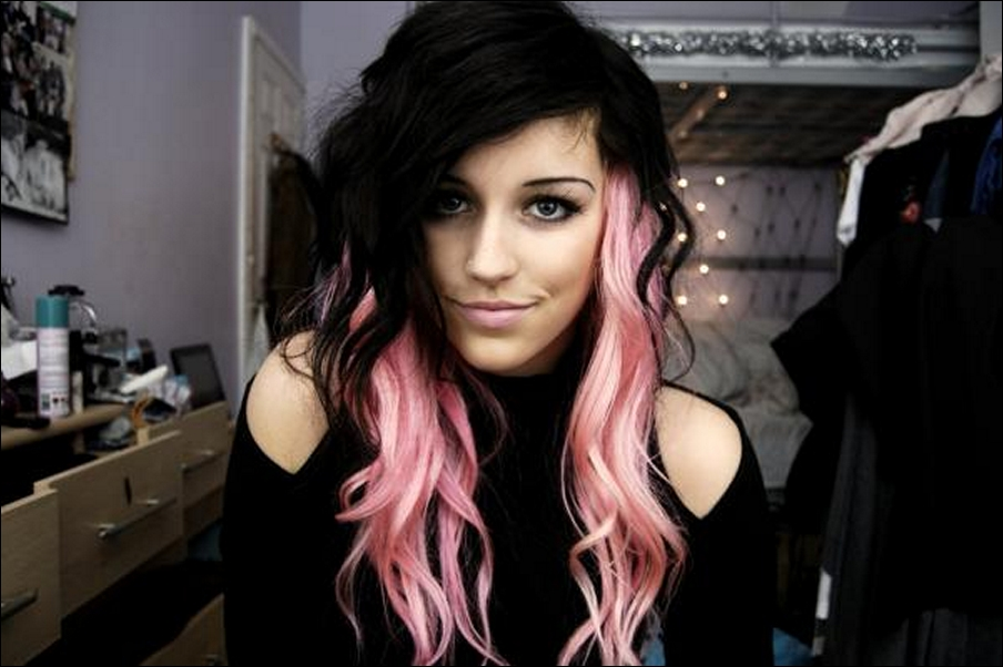 Pink And Black Hair Pink And Black Hair 16...