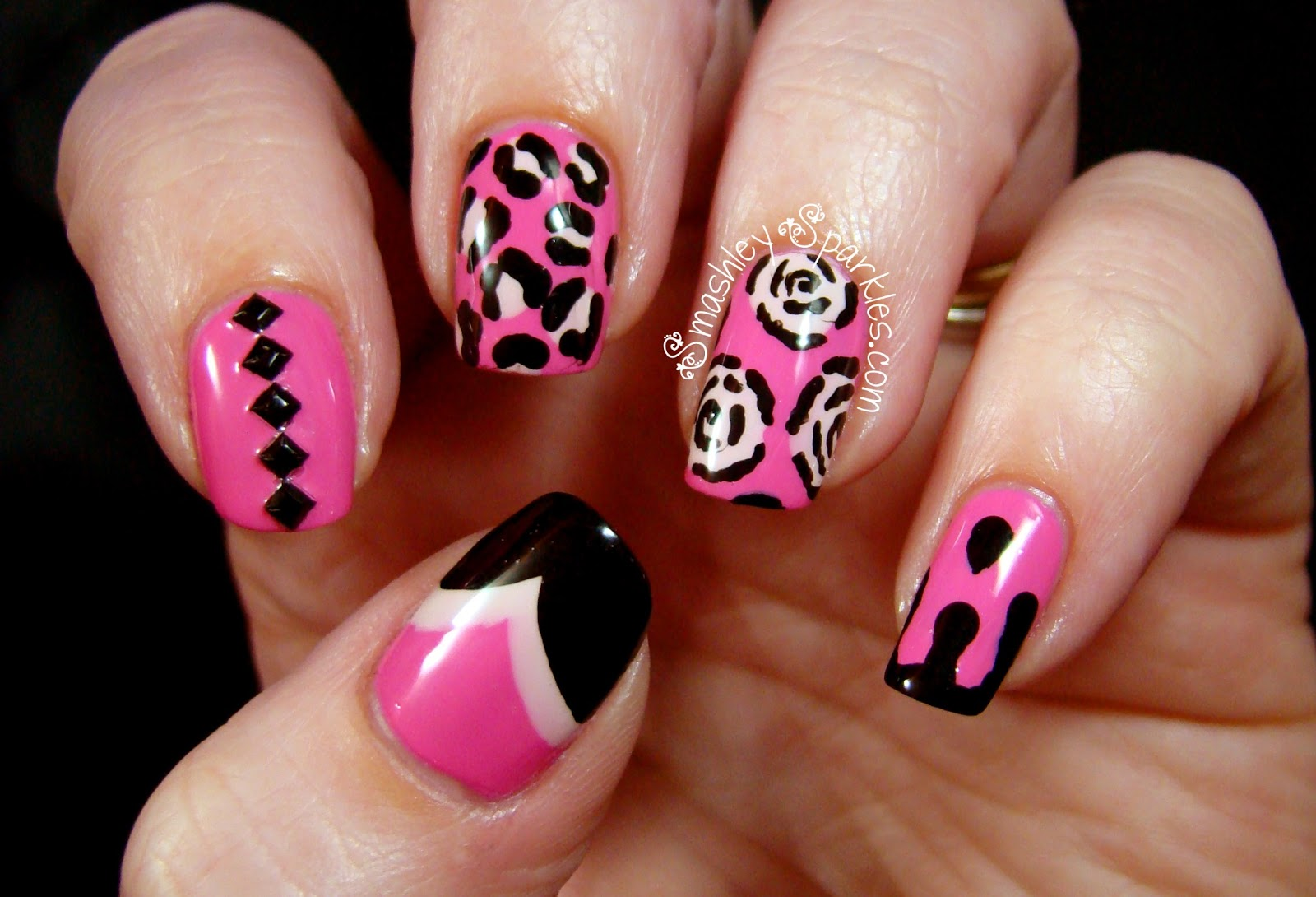 Pink And Black Nail Designs 14 Widescreen Wallpaper ...