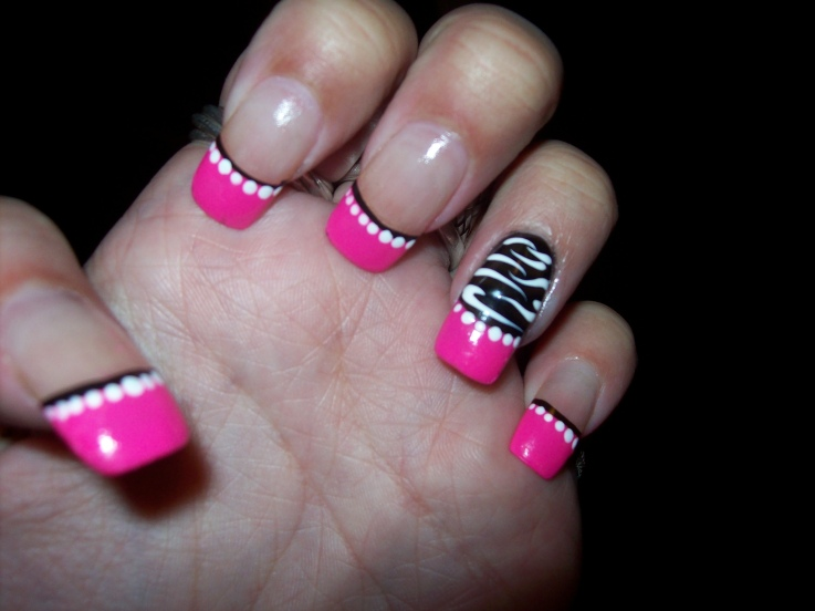 Pink And Black Nail Designs 16 Background - Pink And Black Nail Designs 16 Background - Hdblackwallpaper.com
