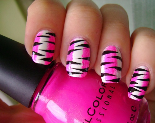 Pink And Black Nail Designs 27 Wide Wallpaper