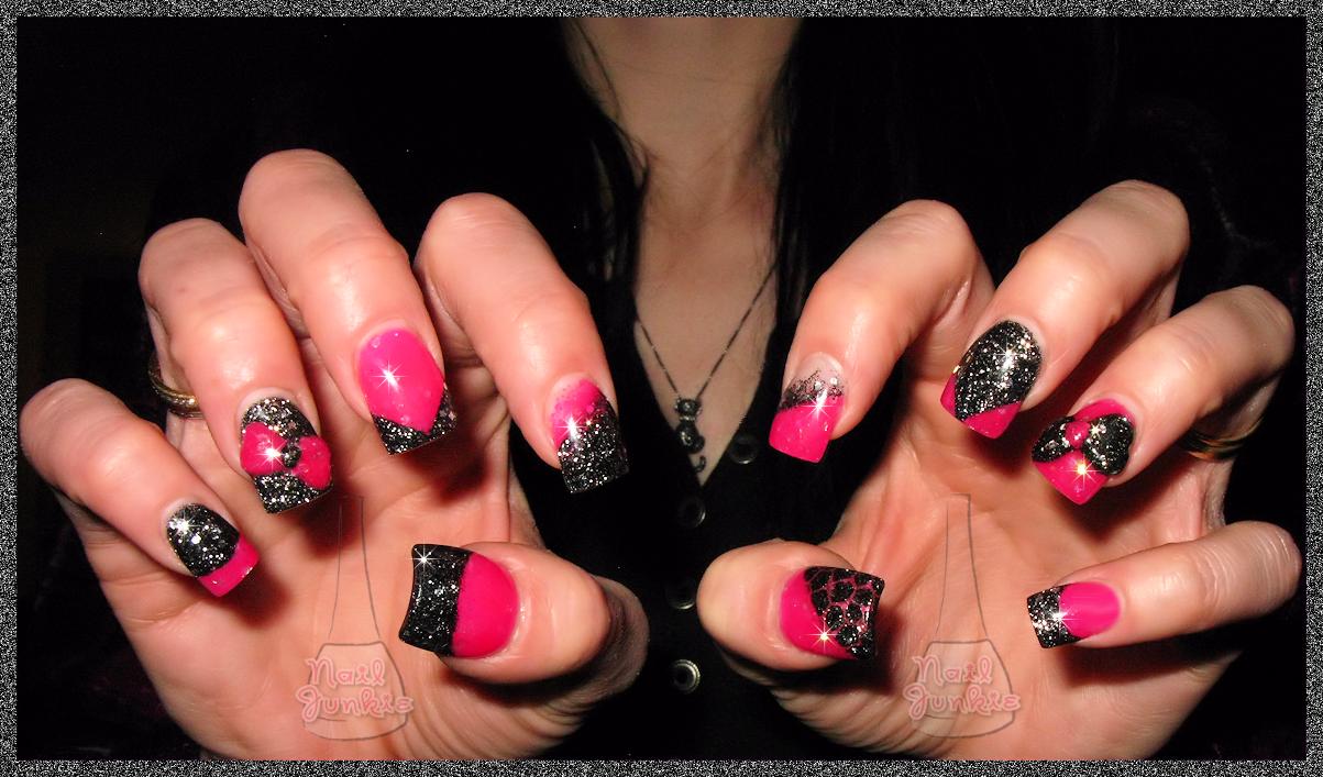 Pink And Black Nail Designs 37 Wide Wallpaper Hdblackwallpaper