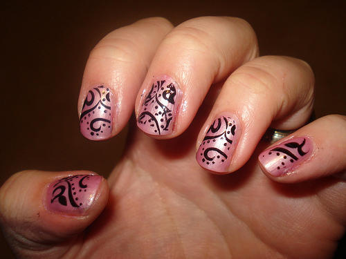 Pink And Black Nail Designs 5 Cool Hd Wallpaper