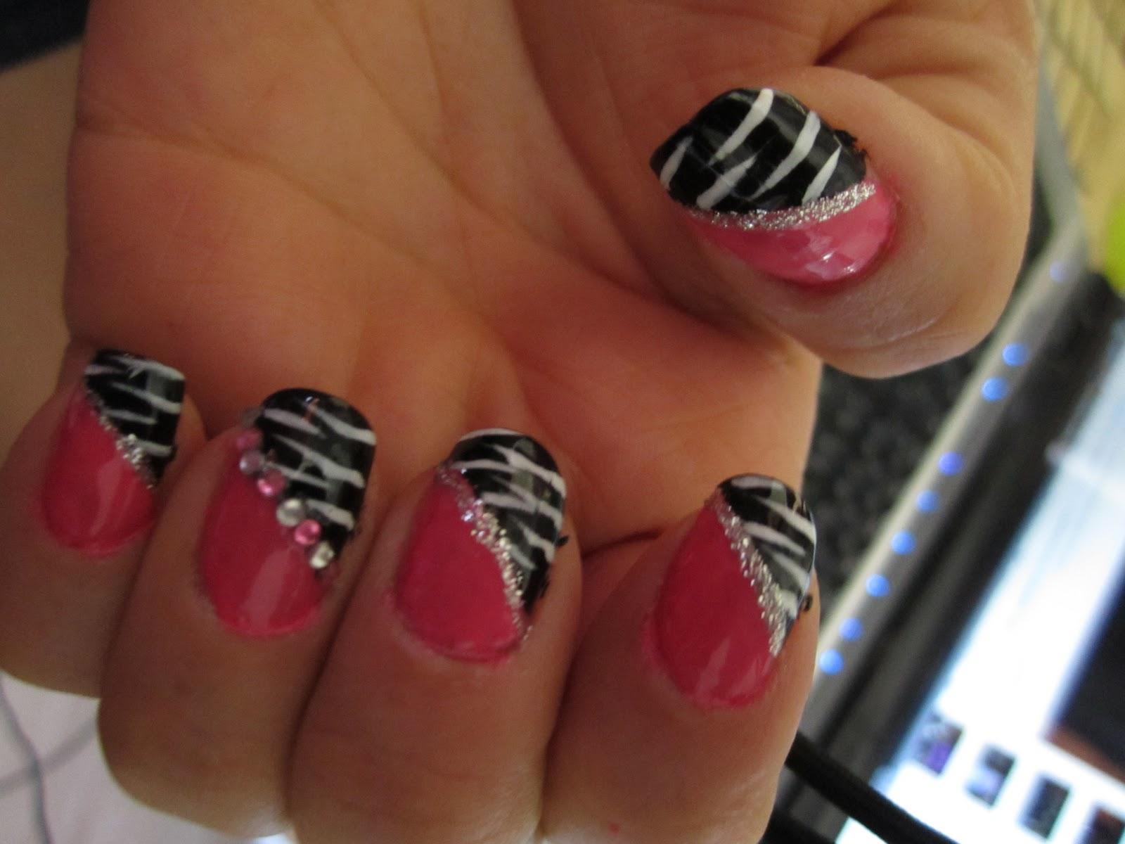 Pink And Black Nail Designs 6 Wide Wallpaper Hdblackwallpaper