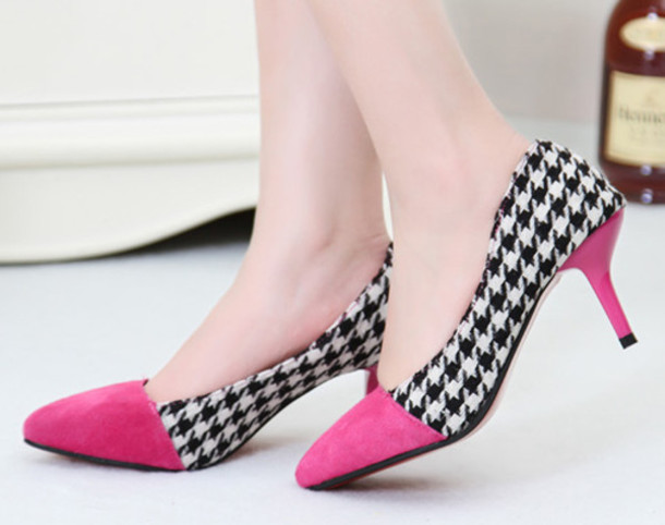 pink and black shoes heels 10 background wallpaper