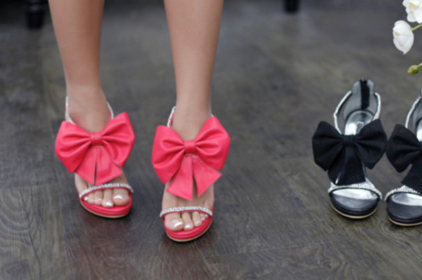Pink And Black Shoes Heels 34 Wide Wallpaper