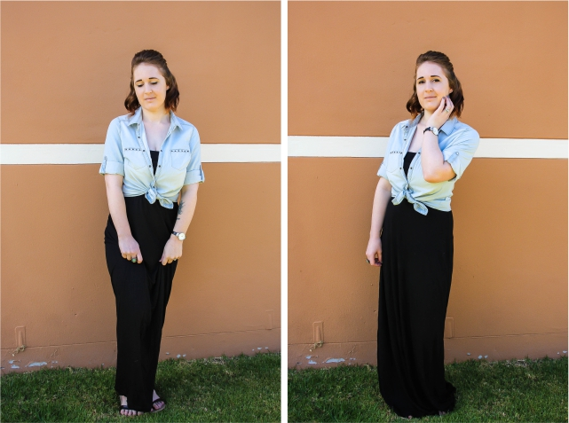 Plain Black Maxi Dress 11 Hd Wallpaper