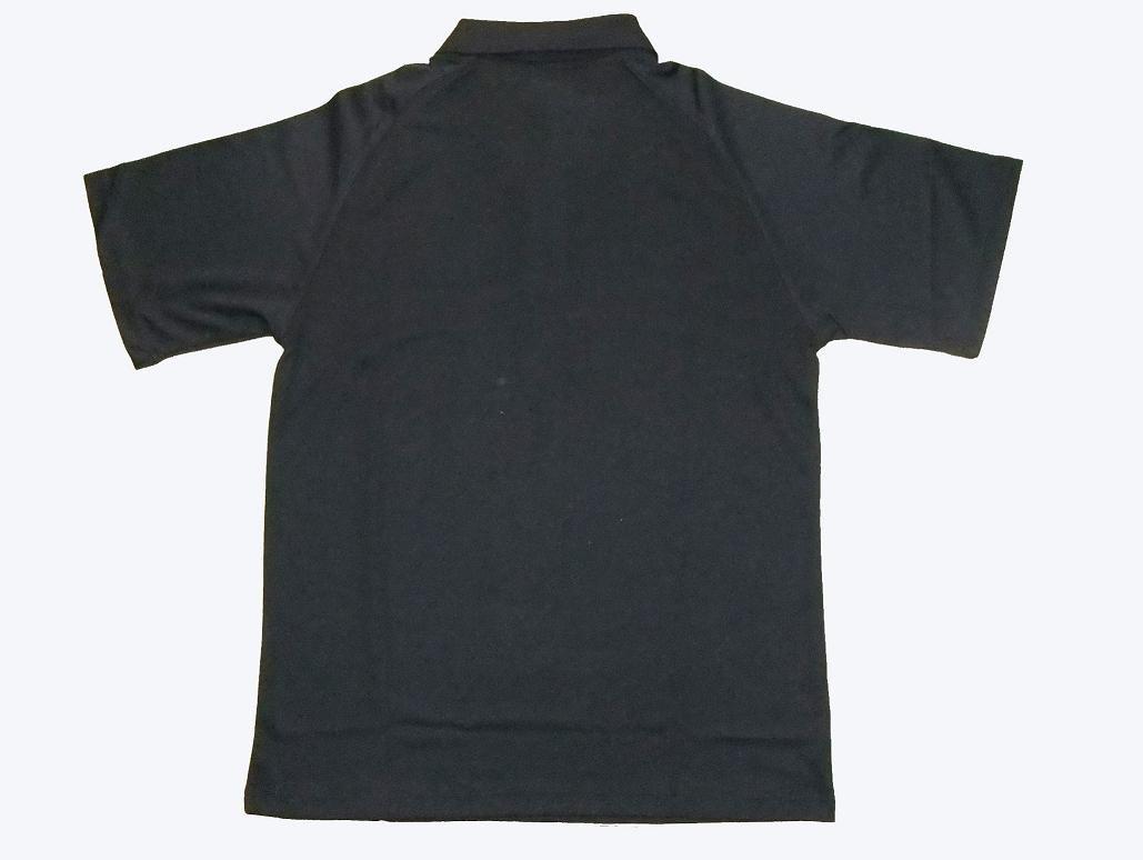 Plain Black Polo Shirt 14 Background