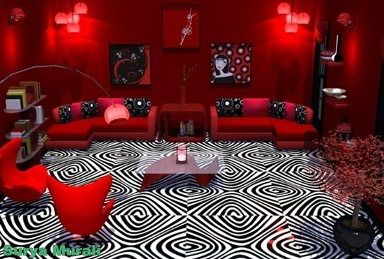Red and black living room wallpaper living room for Red living room wallpaper