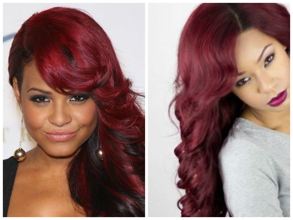 with Hair black and color ideas red