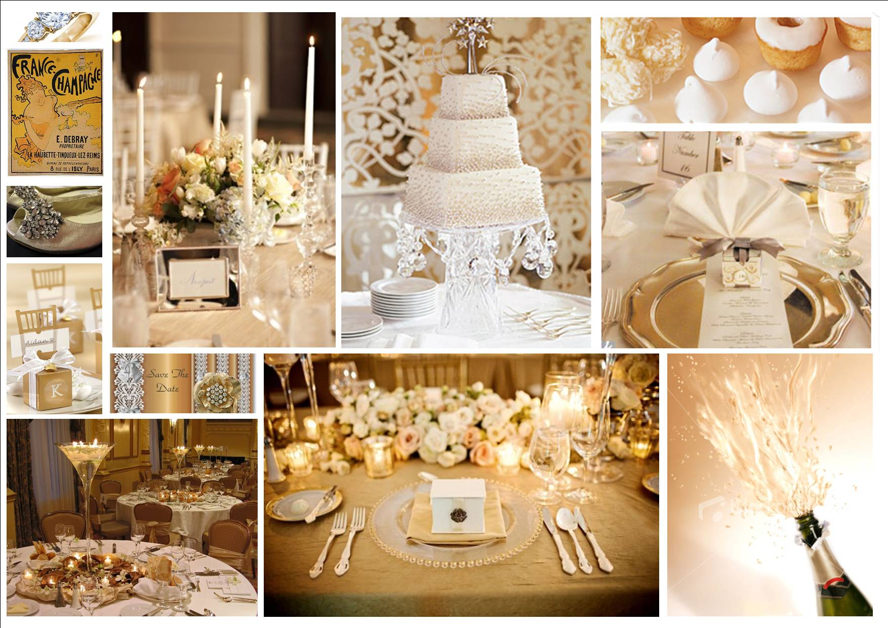 Champagne Colored Wedding Reception | www.topsimages.com