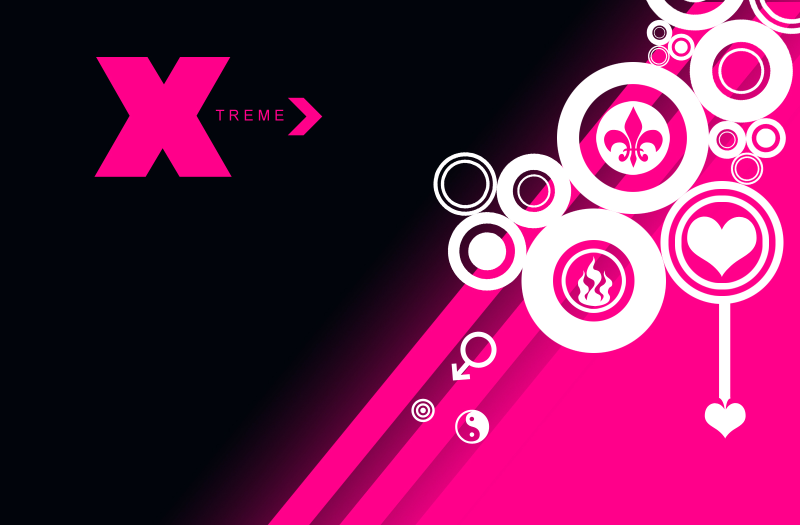 Pink amp Gray Stars with Black Background  Cute Wallpapers