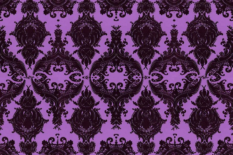 Black and silver damask wallpaper 12 background for Purple and silver wallpaper