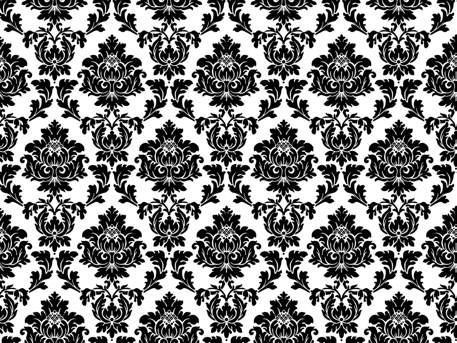 Black And Silver Damask Wallpaper 2 Free