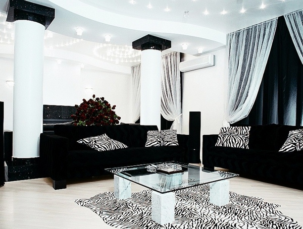 black and silver living room wallpaper