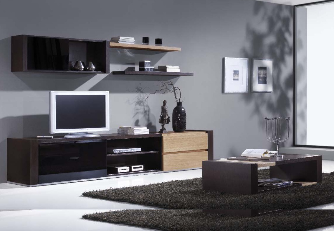 Black and silver furniture 24 widescreen wallpaper for Cool apartment furniture