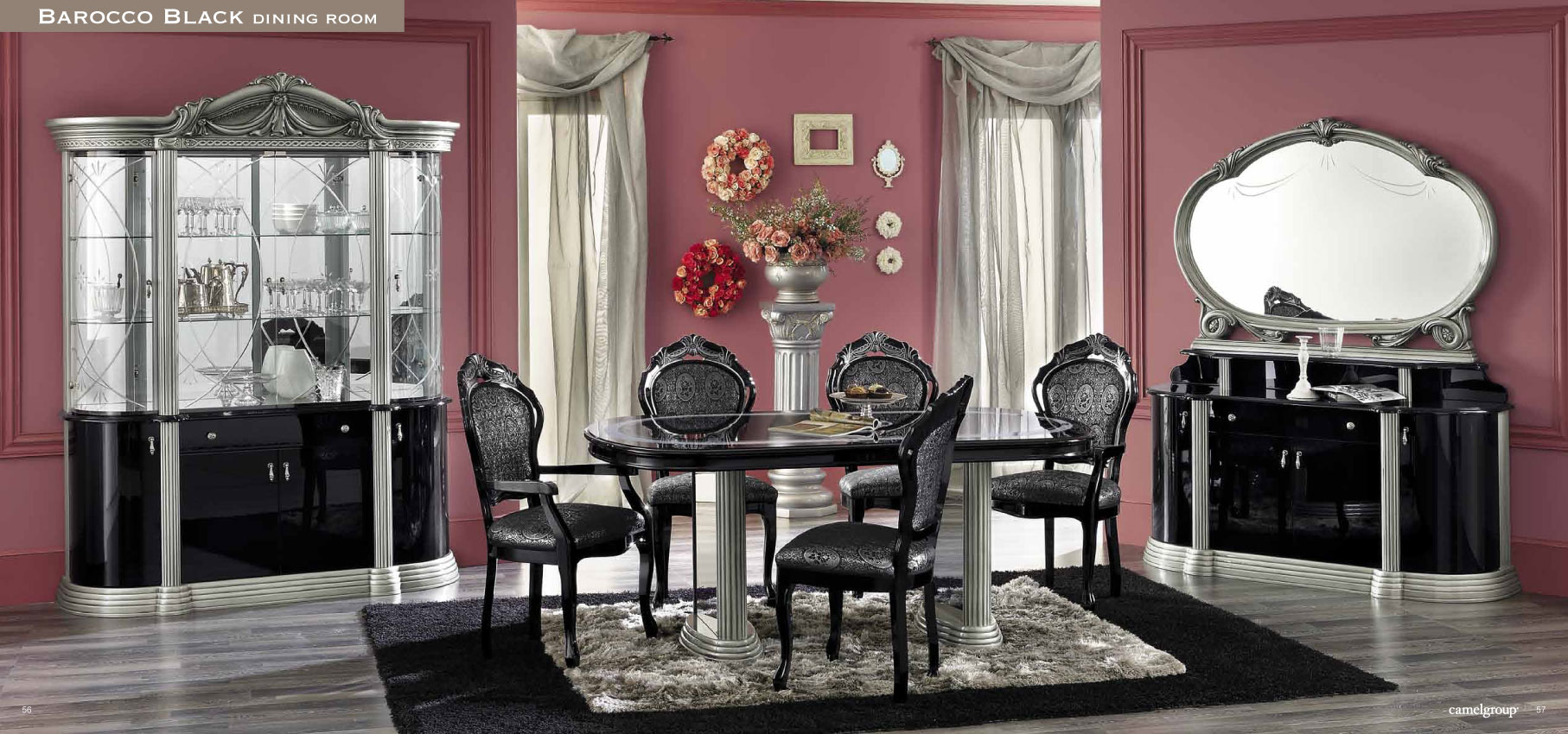 Black 7 piece dining room set