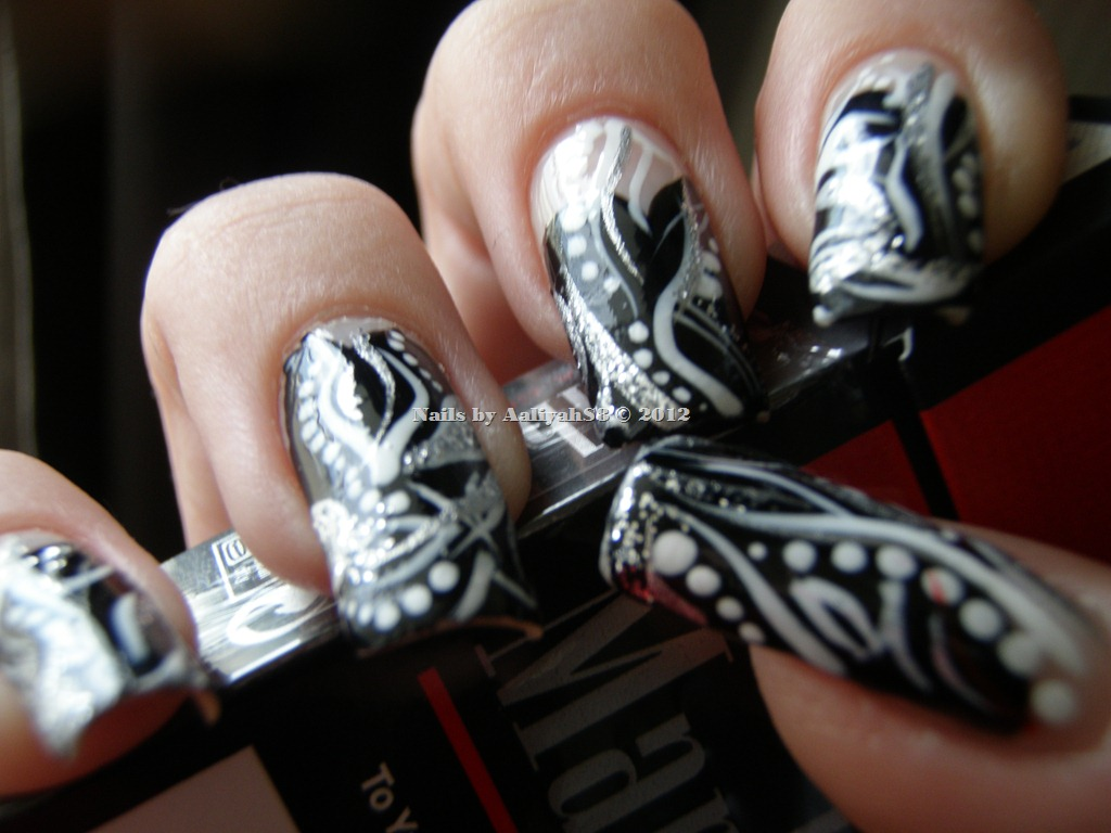 Exelent Black And Silver Nails Photo - Nail Art Ideas - morihati.com