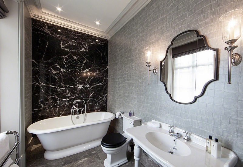 Incredible Black And Silver Wallpaper Designs 14 Wide Wallpaper Largest Home Design Picture Inspirations Pitcheantrous