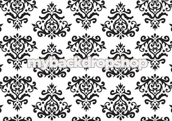 Black And White Damask Wallpaper 11 Widescreen Wallpaper ...