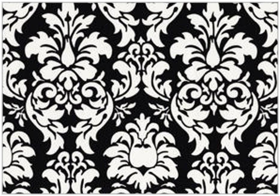 Black and white damask