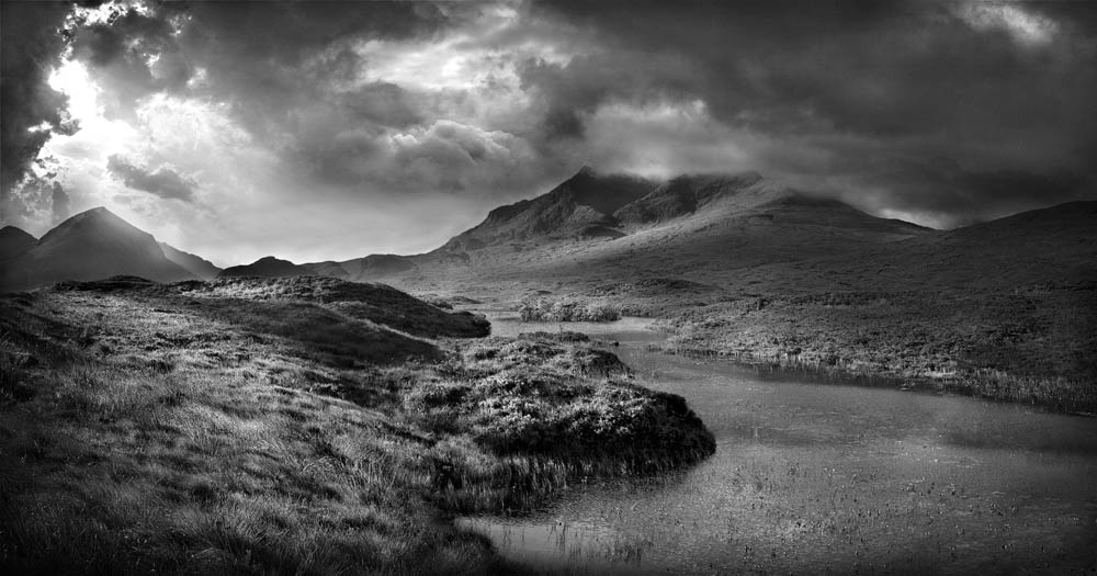 Black and white landscape photography 8 hd wallpaper