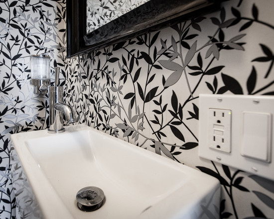 Black and white wallpaper for bathroom 34 wide wallpaper for Cool bathroom wallpaper