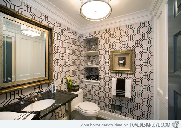 Superior Black And White Wallpaper For Bathroom 25 Wide Wallpaper Images