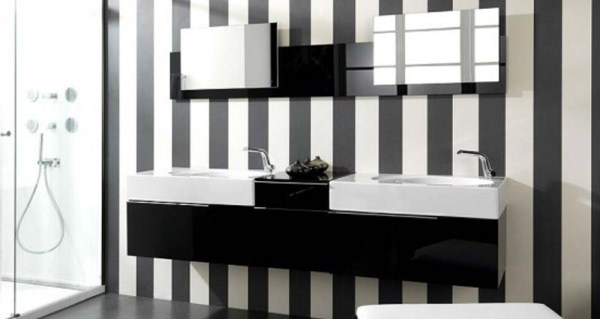 Black And White Wallpaper For Bathroom 4 Hd Wallpaper
