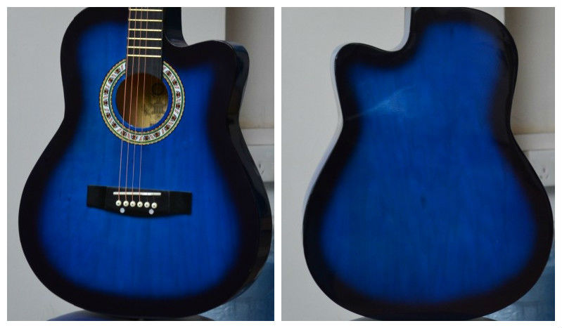 Blue And Black Acoustic Guitar 24 Hd Wallpaper ...