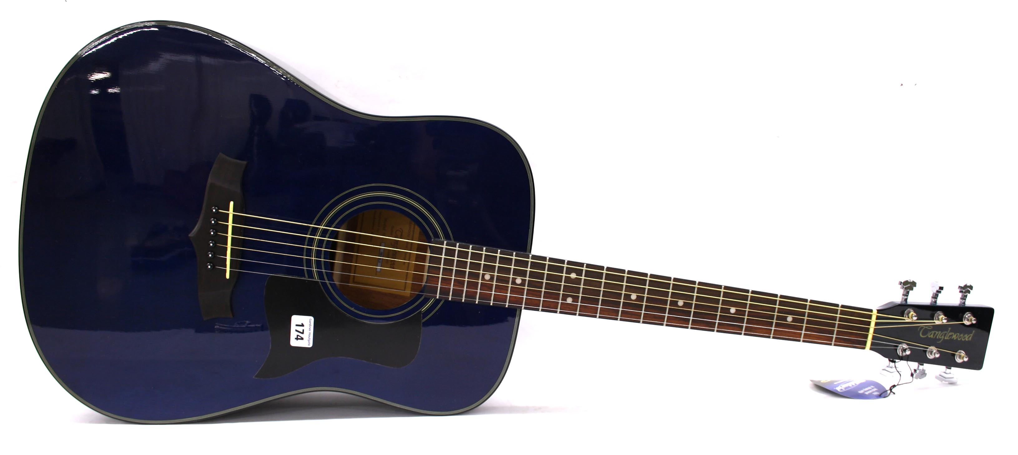 Blue And Black Acoustic Guitar 3 Background ...