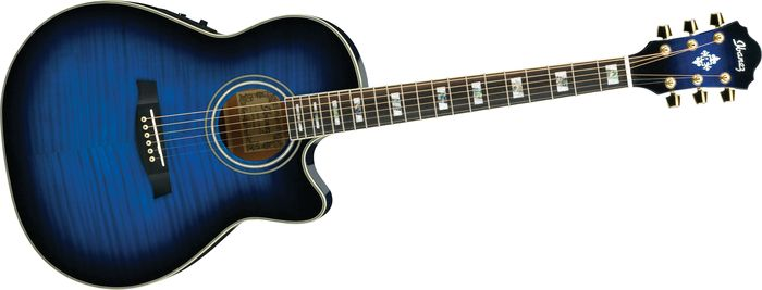 Blue And Black Acoustic Guitar 34 Background ...