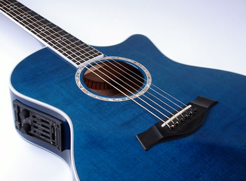 Blue And Black Acoustic Guitar 17 Hd Wallpaper ...