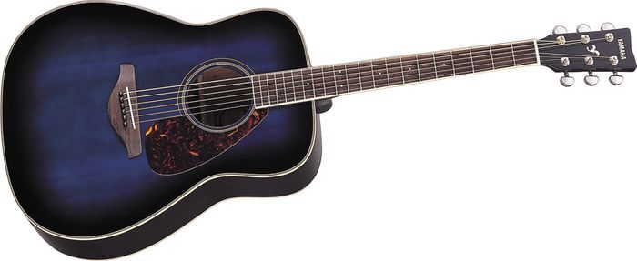 Blue And Black Acoustic Guitar 4 Widescreen Wallpaper ...
