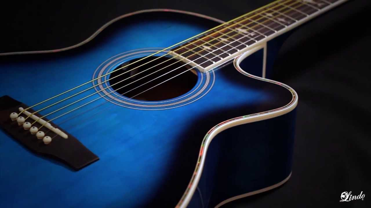 blue and black acoustic guitar 4 widescreen wallpaper. Black Bedroom Furniture Sets. Home Design Ideas