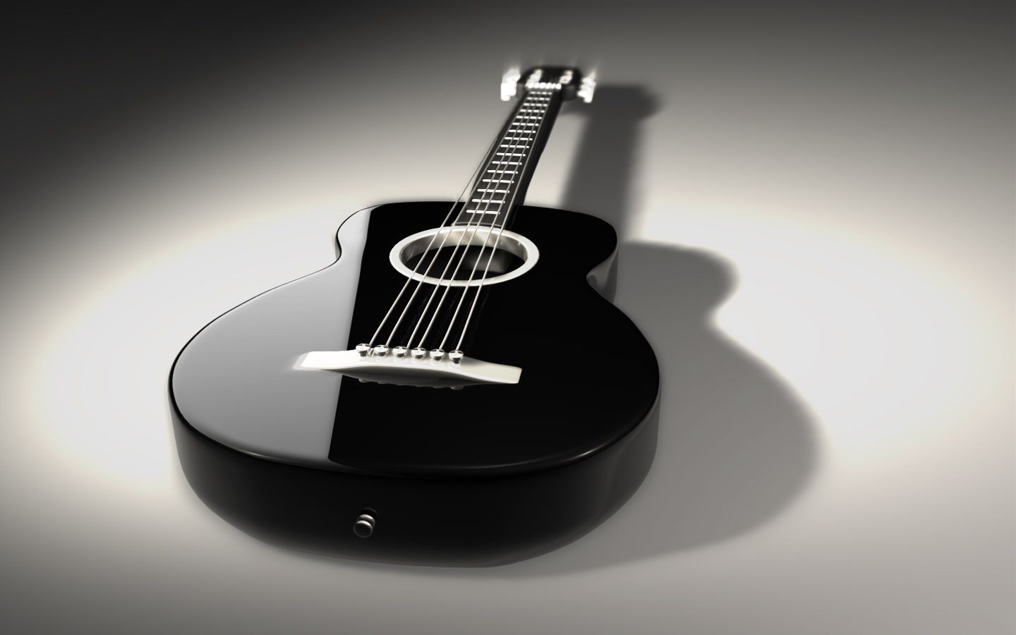 Blue And Black Acoustic Guitar 9 Free Hd Wallpaper