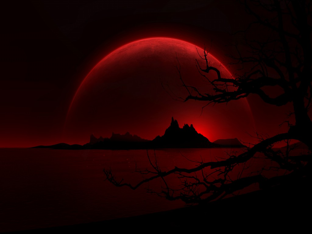 Red Moon Wallpaper: Red And Black Wallpapers 1 Desktop Background