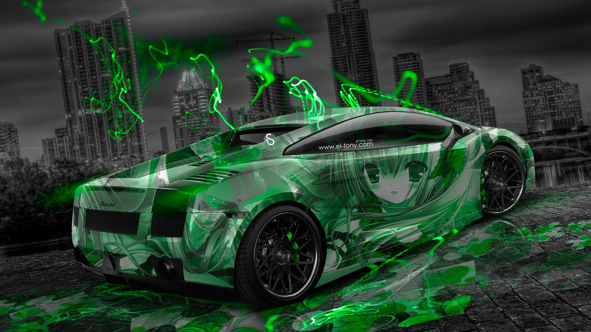 Green And Black Lamborghini 20 Desktop Wallpaper ...